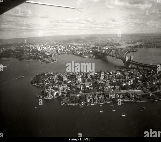 Kirribilli Point & City - 1937 - Stock Image