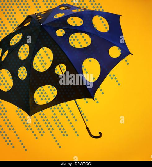 lichtenstein umbrella - Stock Image