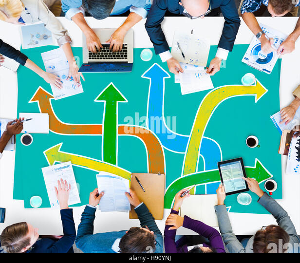 Directions Choice Change Change Decision Making Concept - Stock Image