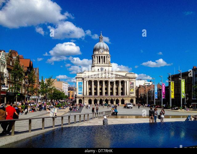 Nottingham Council House, Market Square, Nottingham, UK. - Stock Image