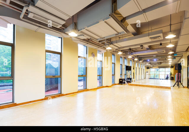 Gymnasium empty stock photos