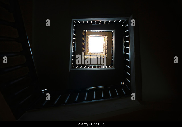 Spiral staircase, low angle view - Stock-Bilder