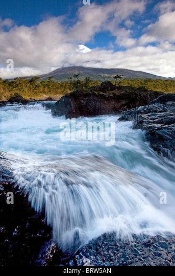 Waterfalls in Chile - Stock Image