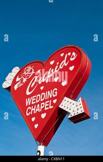 Cupid's Wedding Chapel, Las Vegas, Nevada, United States of America, North America - Stock Image