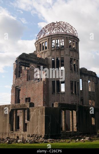 Genbaku Dome (Atomic Bomb Dome), Hiroshima Peace Memorial Park, Hiroshima, Japan. - Stock Image