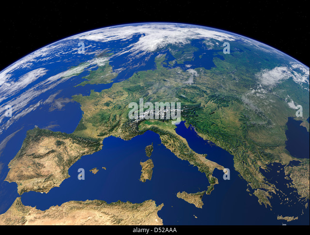Earth From Space Europe Stock Photos & Earth From Space ...