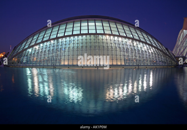 The Hemisferic, City of Arts and Sciences, Valencia, Spain - Stock-Bilder