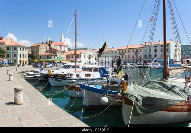 Izola Slovenia  city photos : Fishing port of Izola, Slovenia, Europe Stock Image