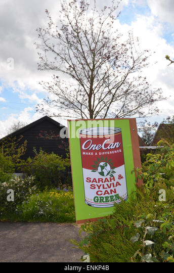 General Election 2015 - Green Party poster, Suffolk, April 2015. - Stock Image