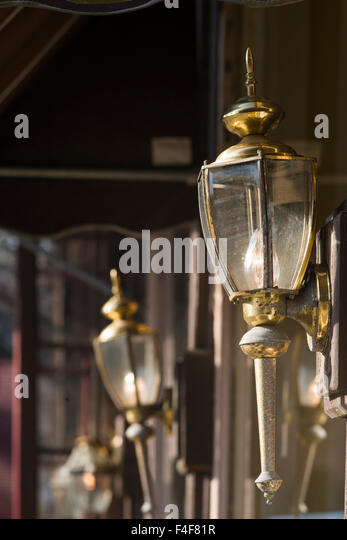 Vermont, Woodstock, antique lamps - Stock Image