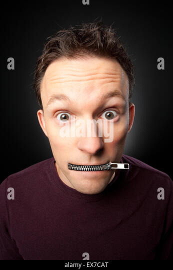 'My lips are sealed' - Stock Image