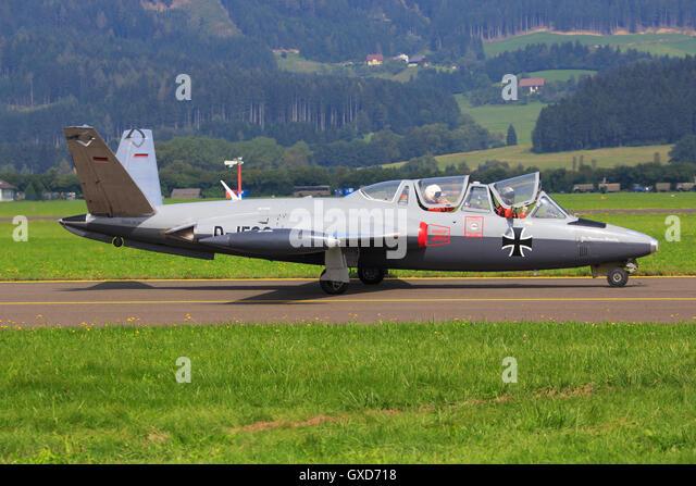 ZELTWEG, STYRIA, AUSTRIA - SEPTEMBER 02: Fouga CM-170 Magister at Airpower in Zeltweg, Austria - Stock Image