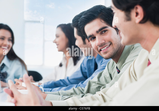 Business executives in a meeting - Stock-Bilder