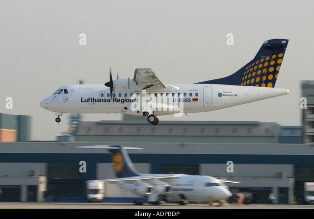 Lufthansa Regional aircrafts - Stock Image