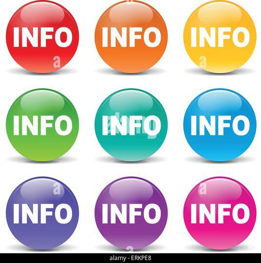 Vector illustration of info colors icons on white background - Stock-Bilder