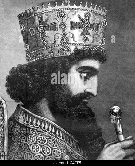 Xerxes, Xerxes I, King of Persia - Stock Image