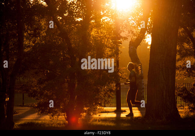 Early morning in a London park - Stock-Bilder