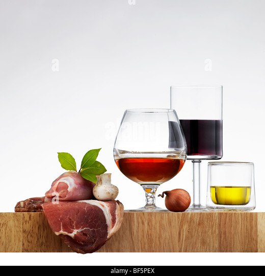 Ingredients for Italian food recipe - Stock Image