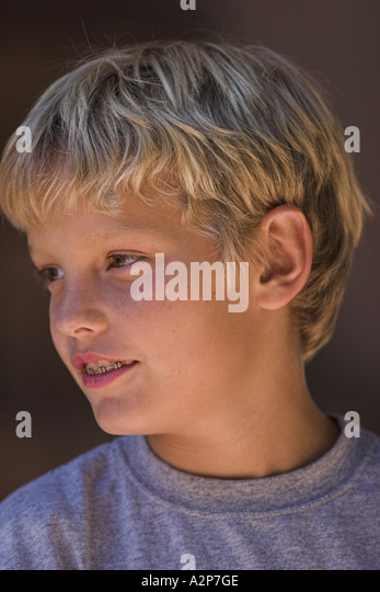 Portrait of a young boy. - Stock Image