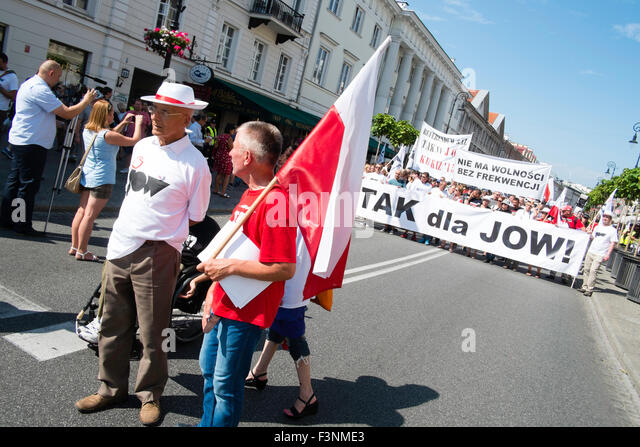 poland politics march demo street - Stock Image