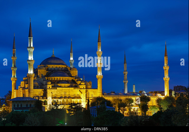 Blue Mosque, Istanbul, Turkey - Stock Image
