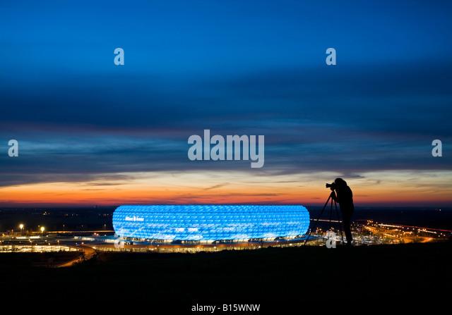 Germany, Bavaria, Munich, Allianz Arena - Stock-Bilder