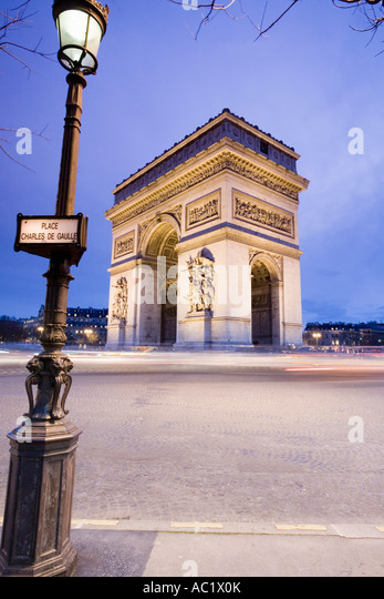 France, Paris, triumphal arch - Stock Image
