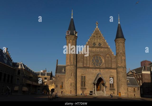 Gothic facade of Ridderzaal,  Binnenhof , The Hague, Netherlands,  Europe - Stock Image