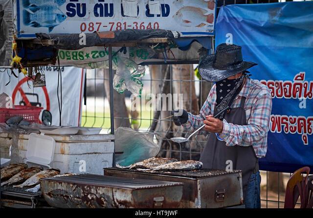 Lao Food Vendor New Year