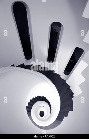 Spiral staircase in Ravello The Amalfi Coast Campania Italy Europe - Stock Image