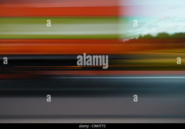 blurred motion,on the move,driving - Stock Image