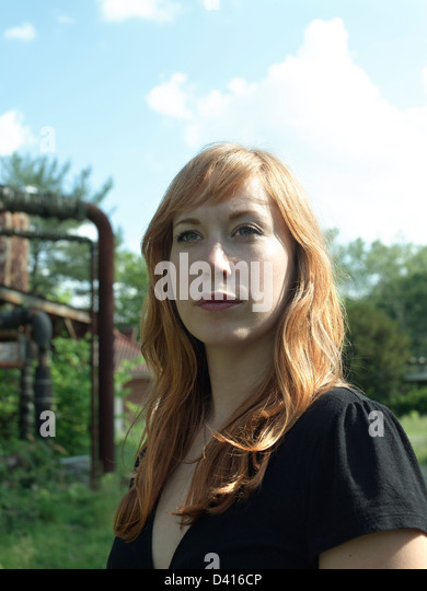 Portrait of a Red Head - Stock Image
