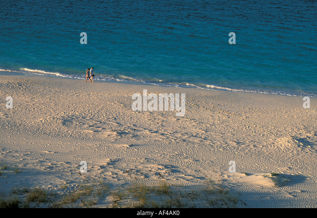 Turks and & Caicos Caribbean Providenciales Grace Bay Beach - Stock Image