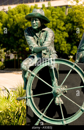 George Town Grand Cayman Traditions maritime heritage statue Heroes Square - Stock Image