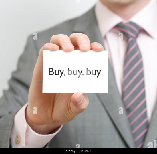Buy buy buy - Stock Image