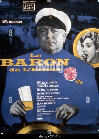 Le baron de l'écluse - Stock Image