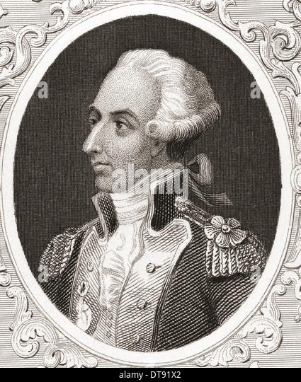 Marie-Joseph Paul Yves Roch Gilbert du Motier de La Fayette, Marquis de La Fayette, 1757 – 1834, aka Lafayette. - Stock Image
