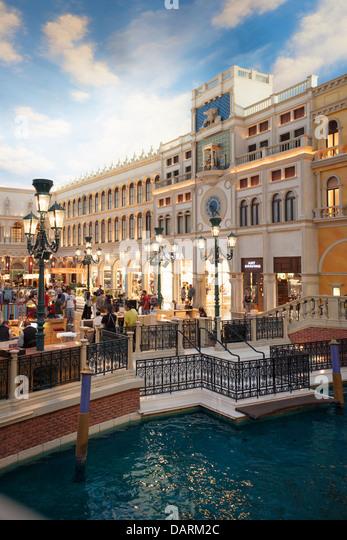 USA, Nevada, Las Vegas, The Venetian Hotel & Casino - Stock Image