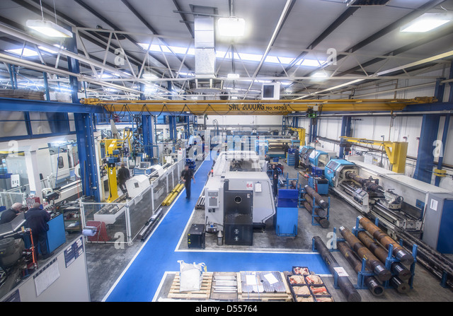 Overhead view of factory - Stock Image