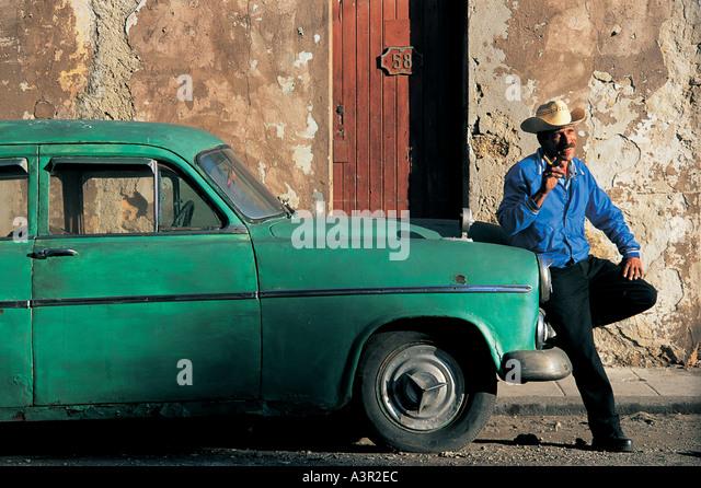 Old car in Havana Cuba - Stock Image