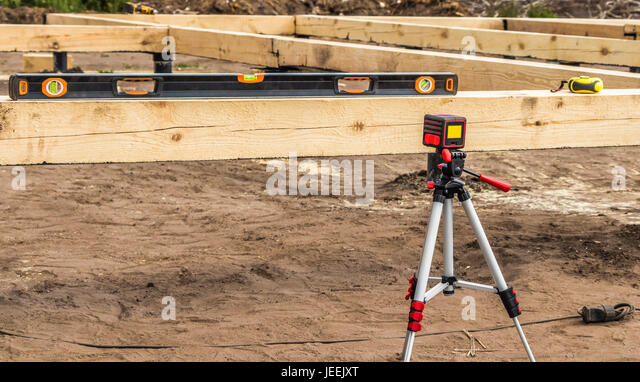 Construction Technology Tools : Laser technology construction stock photos