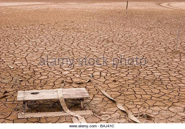 City Buried Under Mud Bombay Beach California - Stock Image