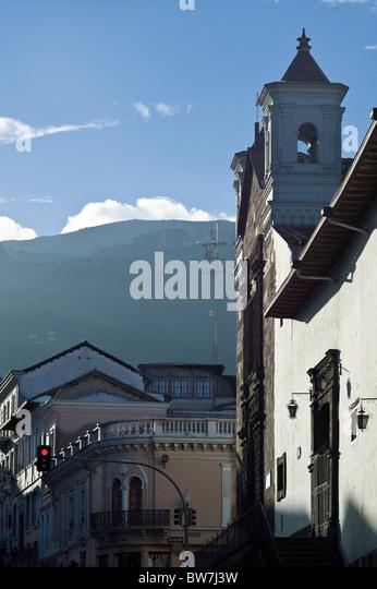 Church in historic center of Quito, Ecuador - Stock Image