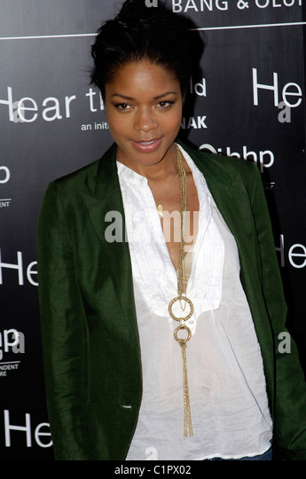 Naomie Harris, The Bryan Adams 'Hear The World Ambassadors' exhibition at Saatchi Gallery London, England - Stock Image