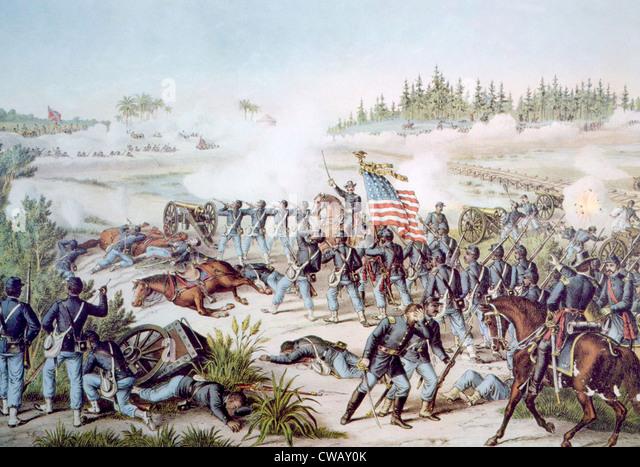 The Battle of Olustee, February 20, 1864 - Stock Image