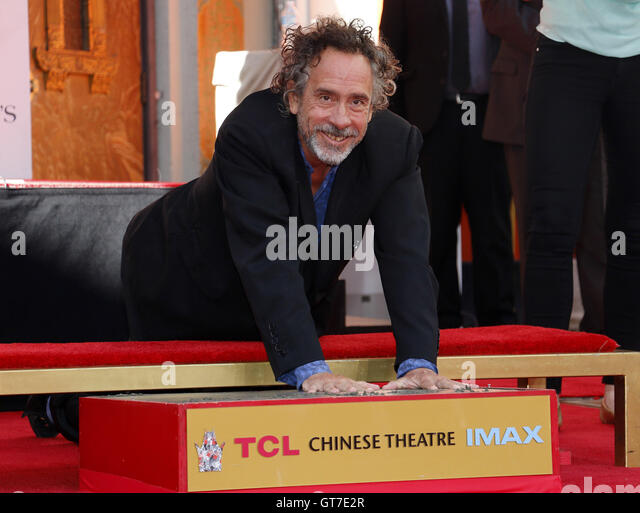 Tim Burton Hand And Footprint Ceremony held at the TCL Chinese Theater in Hollywood, USA on September 8, 2016. - Stock-Bilder