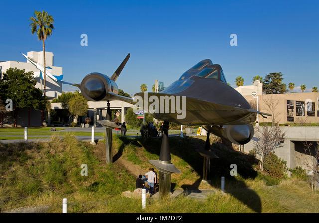 A-12 Blackbird in Exposition Park, Los Angeles, California, USA - Stock Image