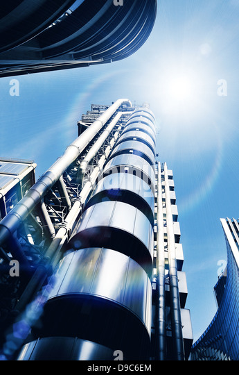 sunlight modern architecture - Stock Image
