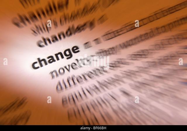 Concept - Change - Stock Image