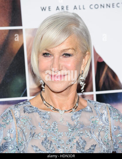 New York, NY, USA. 12th Dec, 2016. 12 December 2016 - New York, New York - Helen Mirren. ''Collateral Beauty'' - Stock Image
